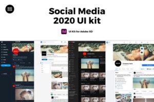 Download 2021 Social Media UI Kit Adobe XD