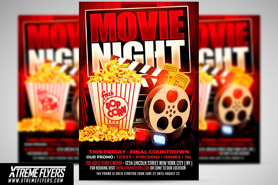 Download Movie Night Flyer Template