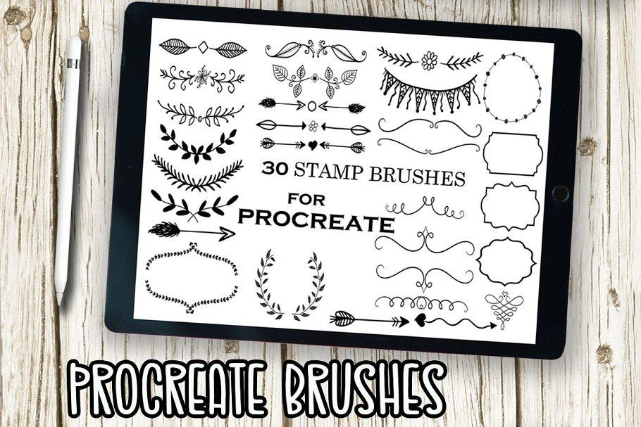 Download Procreate Stamp Brushes Floral Stamp