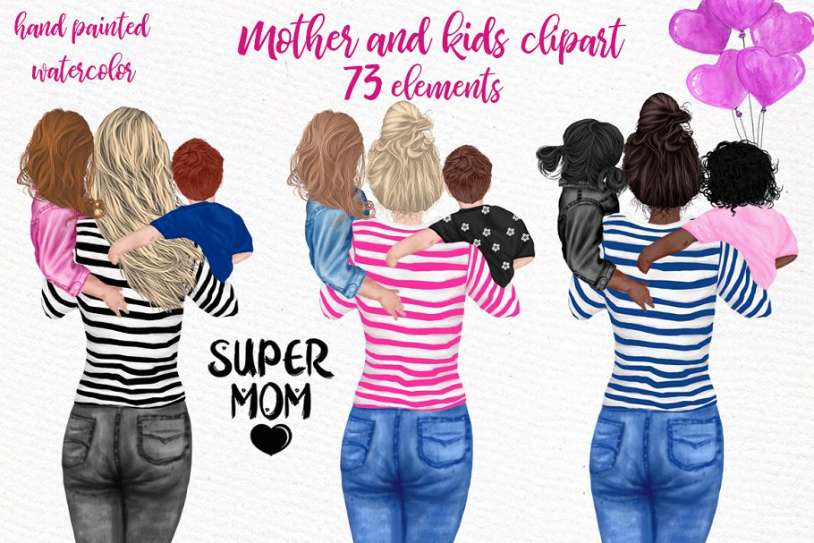 Download Mother and children Mother's day