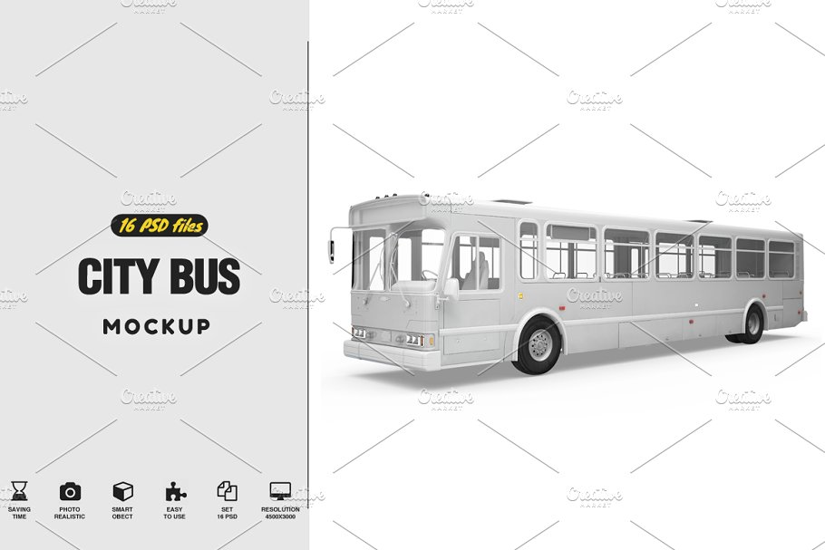 Download City Bus Mockup
