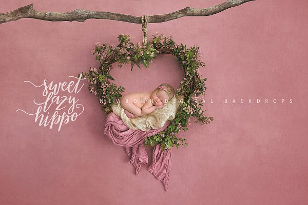 Download Heart Wreath. Newborn Backdrop.