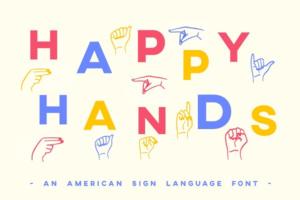 Download ASL Font American Sign Language Type