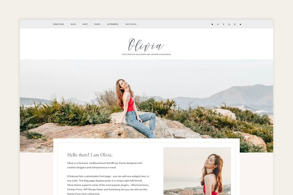 Download Olivia - Feminine WordPress Theme