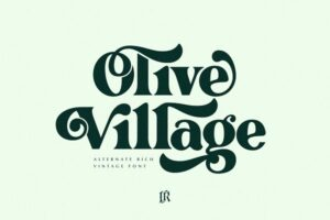 Download Olive Village - Vintage Font