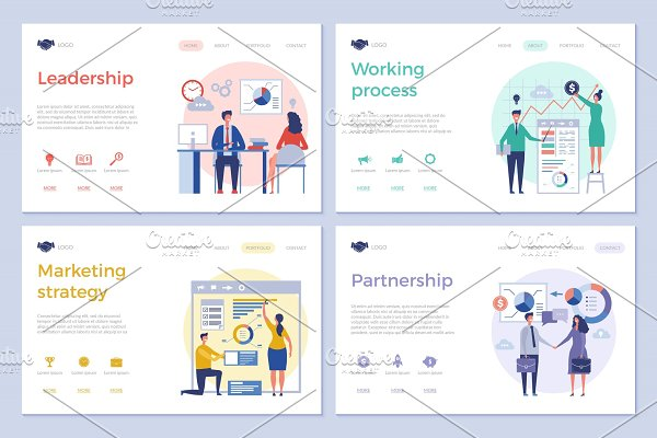 Download Business landing pages. Web design