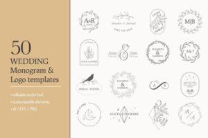 Download on SALE -Wedding Monogram Collection
