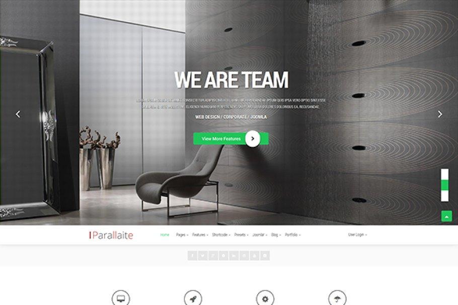 Download Parallaite Corporate Joomla Template