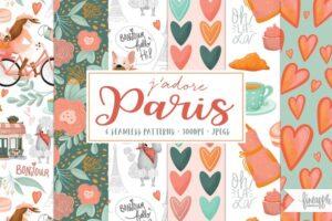 Download J'adore Paris Pattern Pack