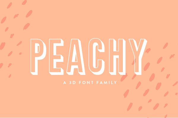 Download Peachy | A 3D Font Family