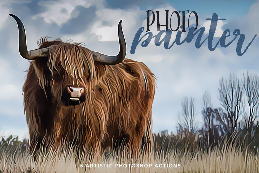 Download Photo Painter Photoshop Actions 1