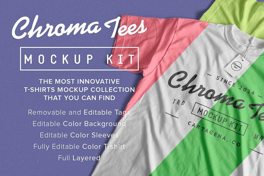 Download Chromatees Mockup T-Shirts