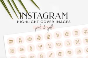 Download Pink Gold Instagram Highlight Covers