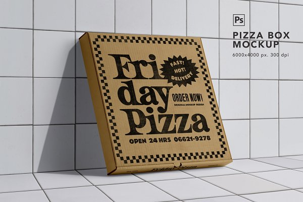 Download Pizza Box Mockup