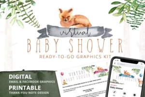 Download Virtual Baby Shower - Woodland