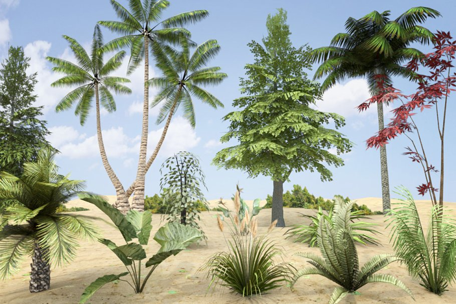 Download Plants Grass and Trees Pack
