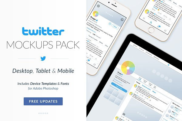 Download Twitter Social Media Mockups Pack