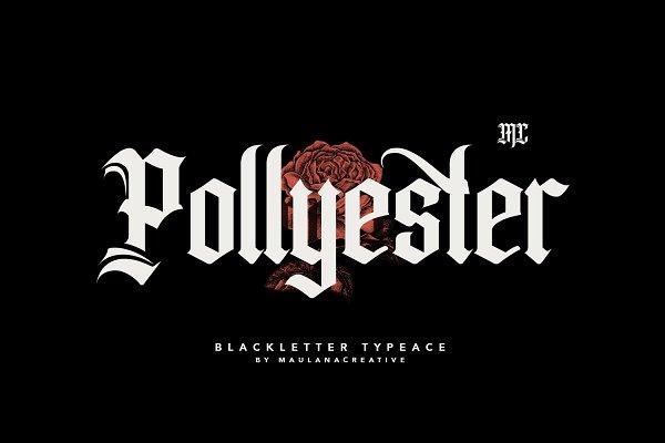 Download Pollyester Blackletter Typeface Font