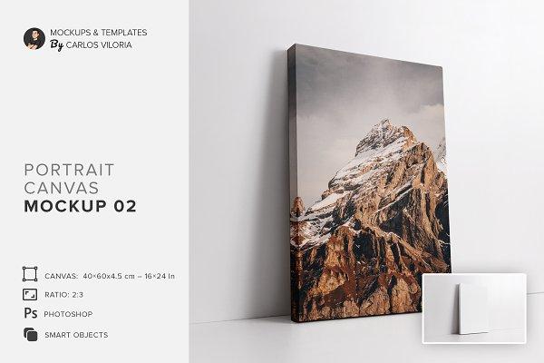Download Portrait Ratio 2x3 Canvas Mockup 02