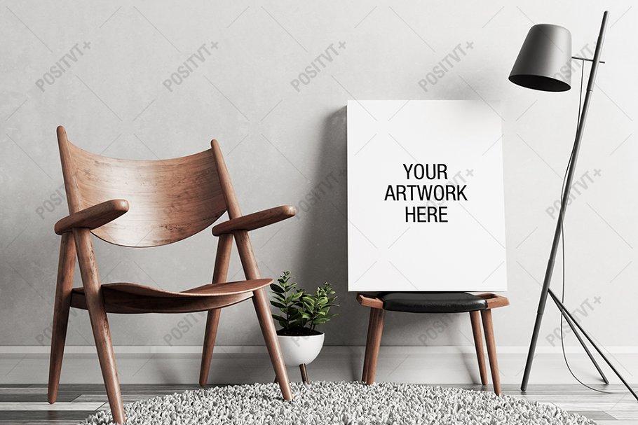 Download Canvas Mockup Minimal Scandinavian