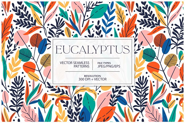 Download EUCALYPTUS seamless pattern