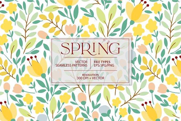 Download SPRING flowers pattern