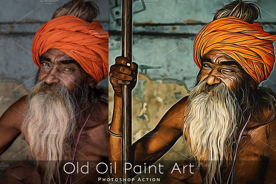 Download Old Oil Paint Art - Photoshop Action