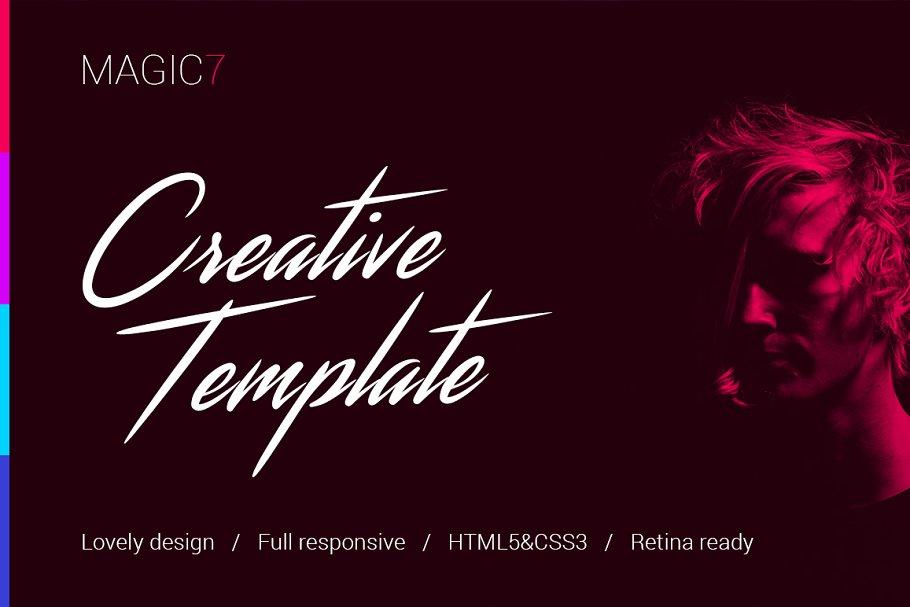 Download Magic7 – Creative HTML Template