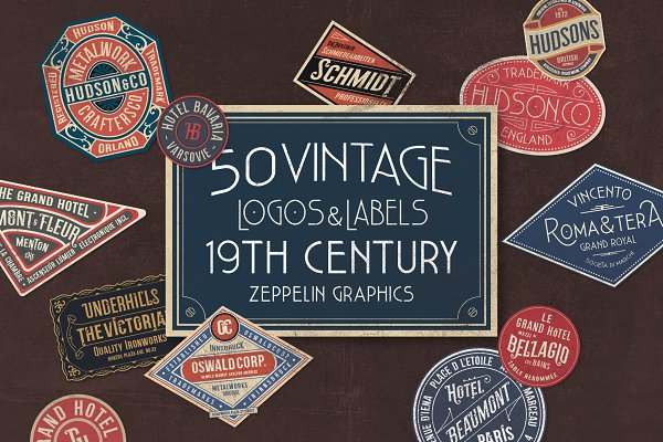 Download 19th Century Vintage Labels