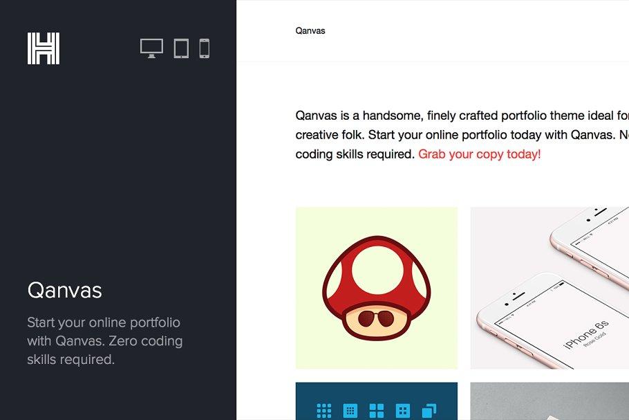 Download Qanvas - Portfolio Wordpress Theme