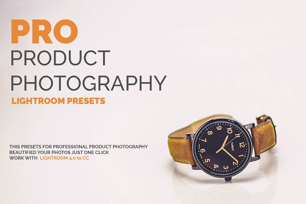 Download PRO Product Photography LR Presets