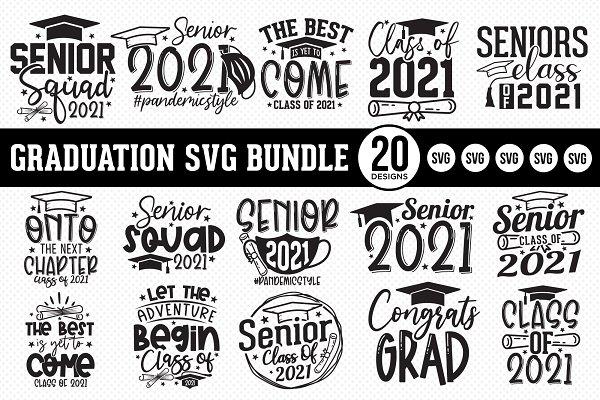 Download Graduation SVG Bundle - 20 Designs