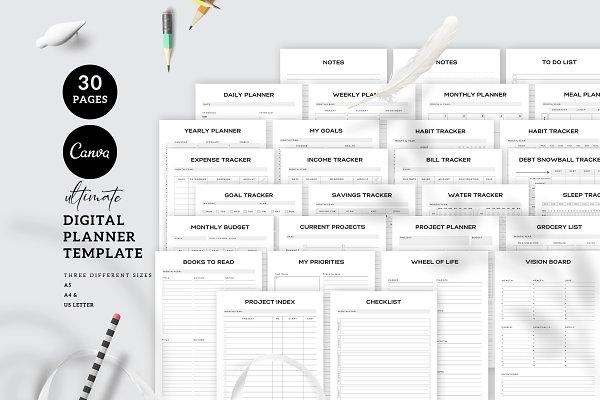 Download Canva Digital Planner Template