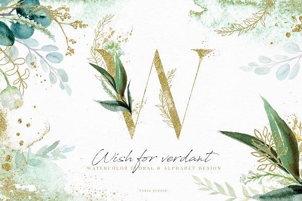 Download Wish For Verdant - Alphabet Gold