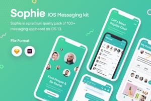 Download Sophie Messaging app ui kit