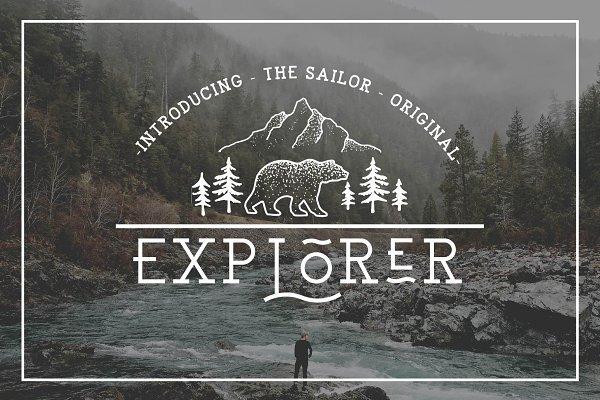 Download EXPLORER - Sailor Original Typeface