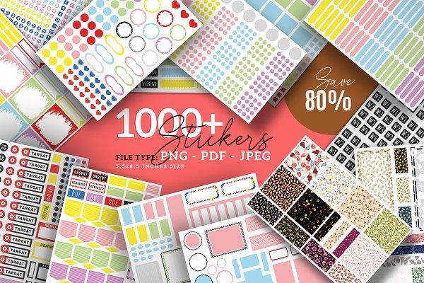 Download Planner Stickers Bundle Pack
