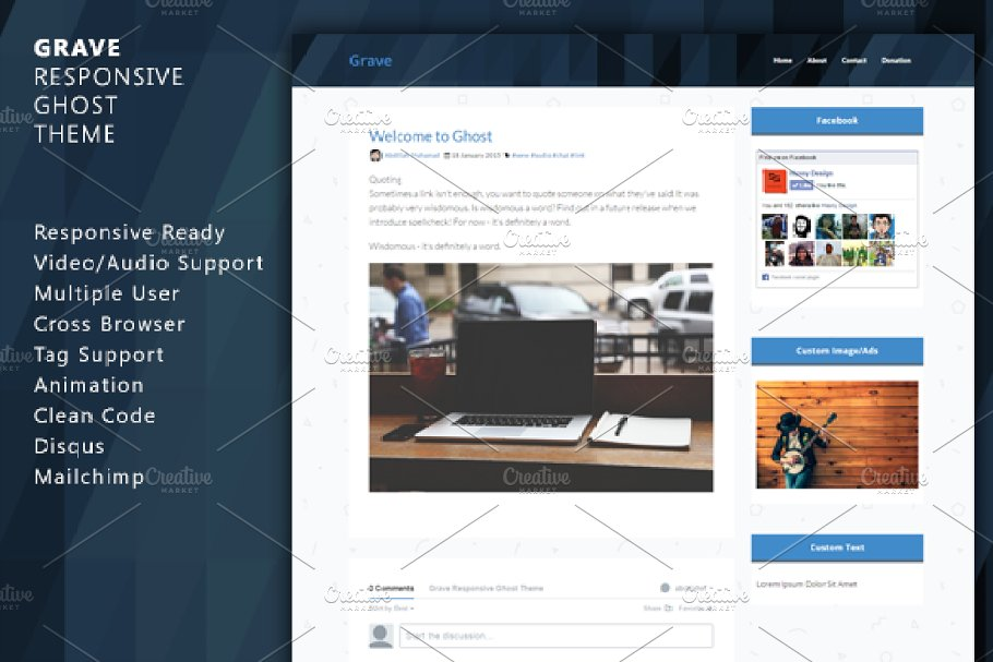 Download Grave - Responsive Ghost Theme