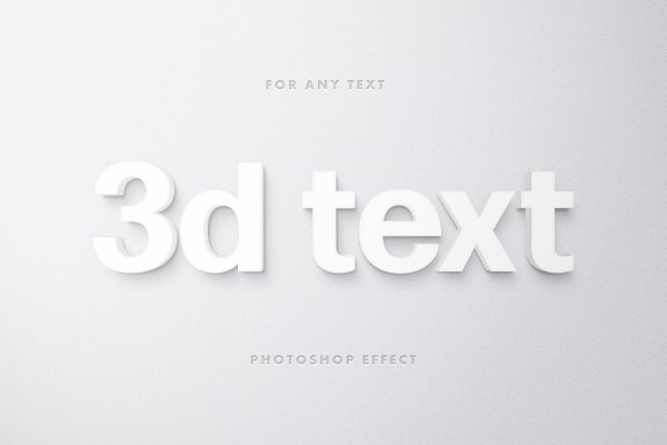 Download White 3D Text Effect for Photoshop