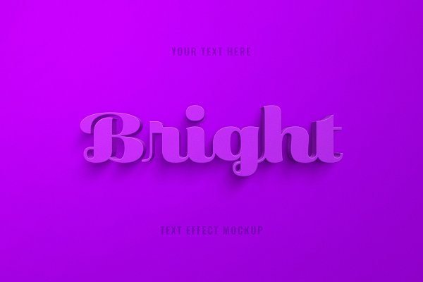 Download Bright 3D Text Effect