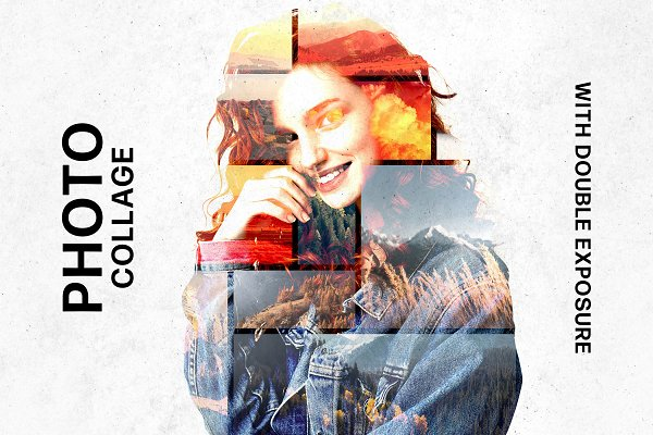 Download Collage Template & Double Exposure