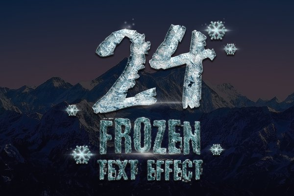 Download 24 Frozen and Ice Text Effect