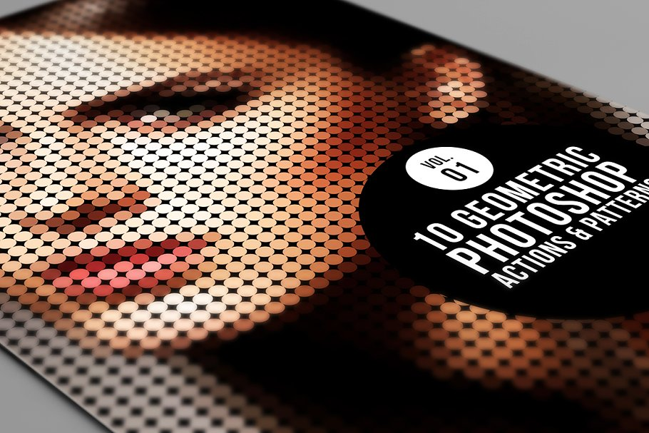 Download 10 Geometric Photoshop Actions 01