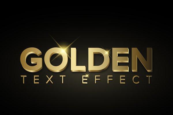 Download Illustrator Golden metallic 3D style