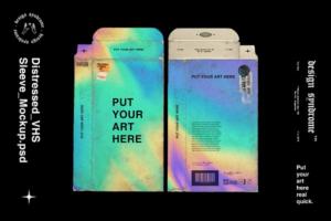 Download Distressed VHS Sleeve Mockup