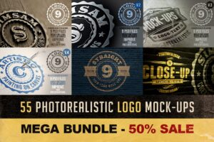 Download 55 Photorealistic Logo Mock-ups