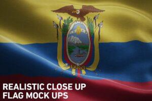 Download Realistic Close Up Flag Mockups