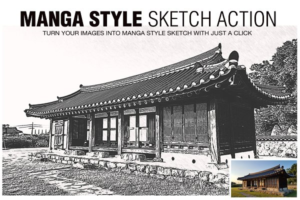 Download Manga Style Sketch Effects