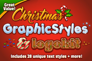 Download Christmas Graphic Styles & Logo Kit