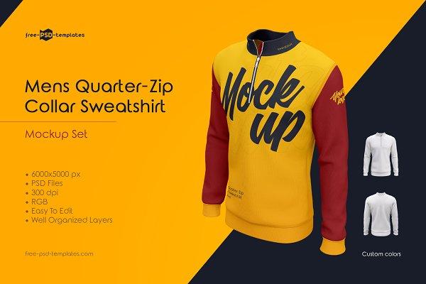 Download Mens Sweatshirt MockUp Set